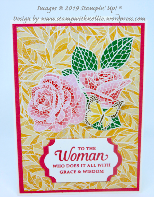 Nigezza Creates With Stampin' Up! friends Stamp With Nellie using Mosaic Mood