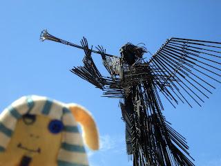 Estatua en Chernobyl