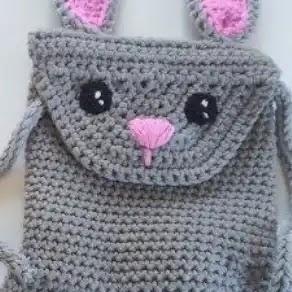 Mochila Conejito a Crochet