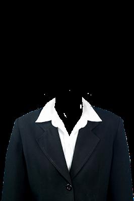 Contoh template jas wanita hitam png