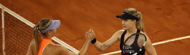 maria-sharapova-Eugenie Bouchard-wta-madrid