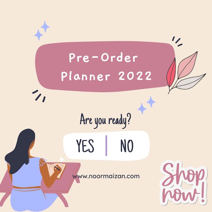 Pre-Order Premium Planner 2022 Murah by Syabab Kini Dibuka!