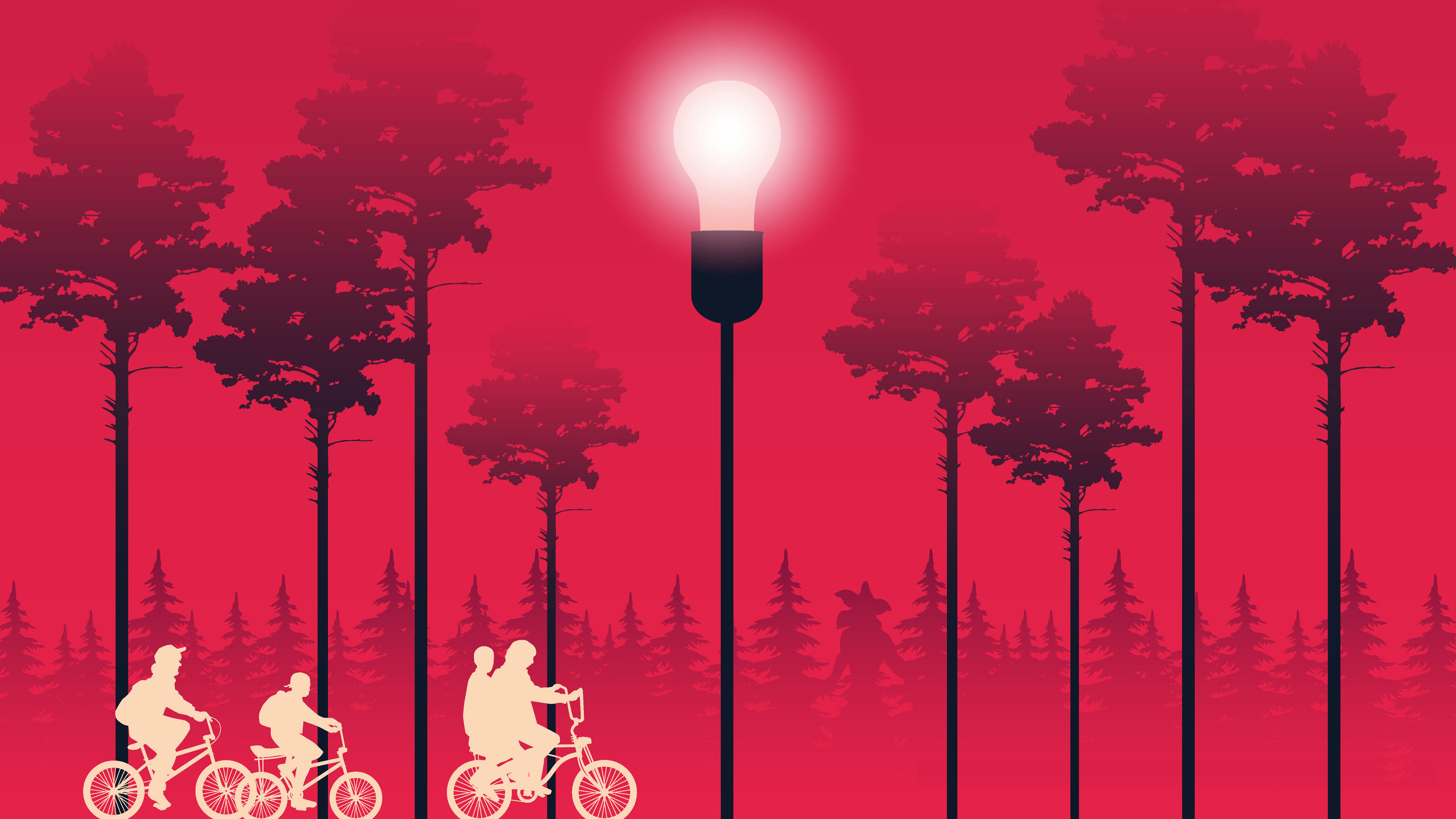 Stranger Things Minimalist 4k Wallpaper 3