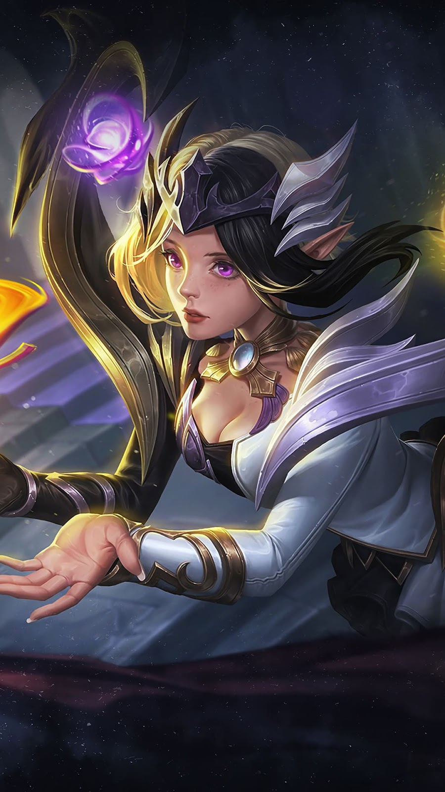 Wallpaper Lunox Twilight Goddes Skin Mobile Legends Full HD for Android and iOS
