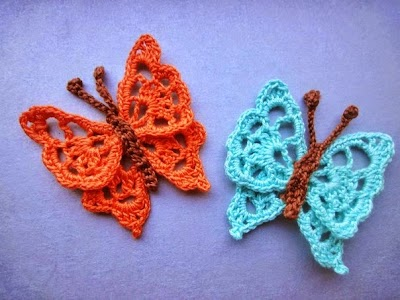Mariposas de crochet 2 patrones y 117 tutoriales