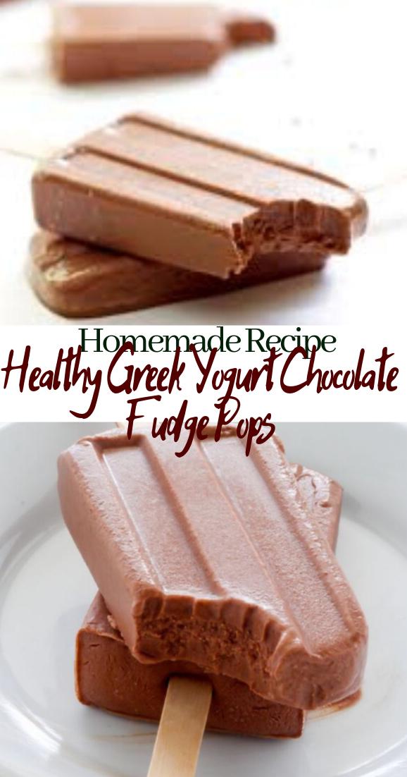 Healthy Greek Yogurt Chocolate Fudge Pops #desserts #cakerecipe #chocolate #fingerfood #easy