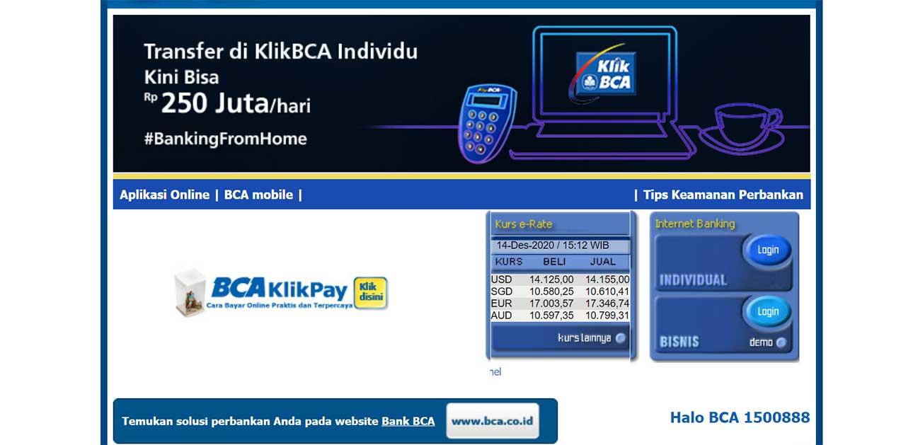 BCA Individual Internet Banking