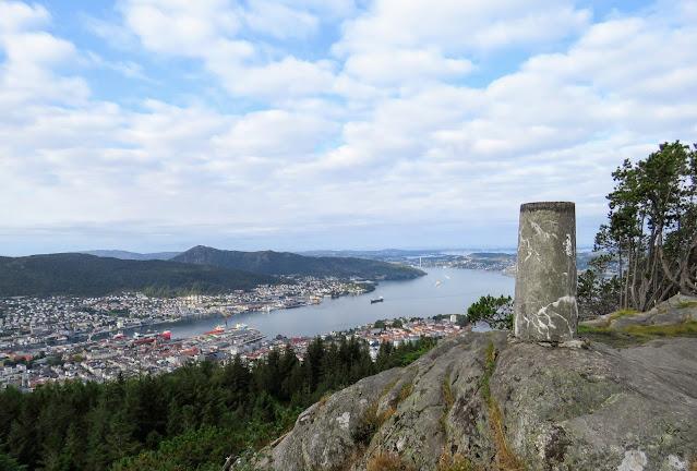 Views from the Fløyvarden cairn hike in Bergen Norway