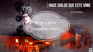 """✨Pasodoble """"Hace siglos que este vino"""". ⚫no cantado en el Falla de 🥇JC Aragón. """"Las noches de bohemia"""" (2010) con LETRA"""