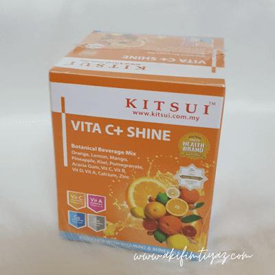 kitsui vitamin c+ shine, kitsui vita c shine, kitsui product, kitsui review, kitsui malaysia review, kitsui malaysia testimoni, kitsui whitenin BB