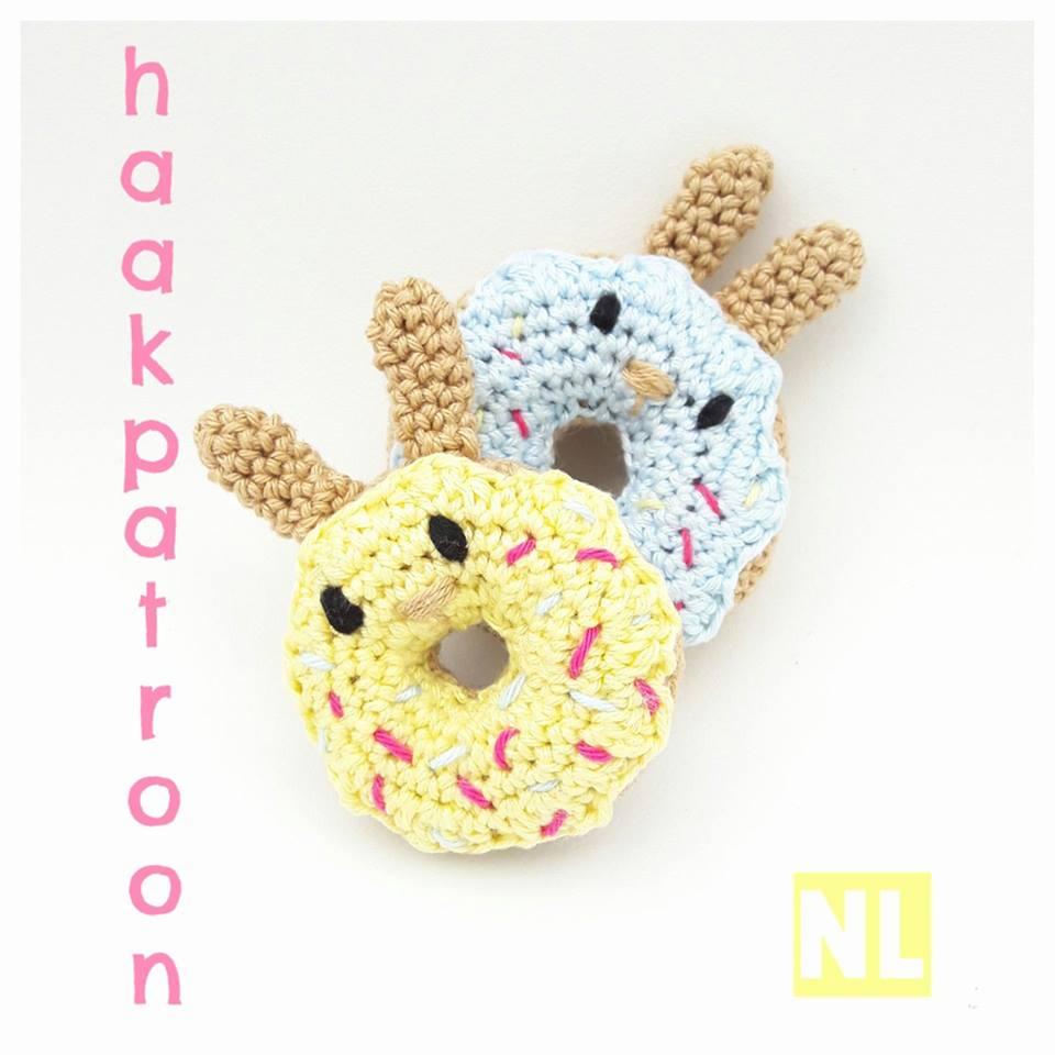 Donut Konijn Haakpatroon Donut Bunny Crochetpattern Bees And