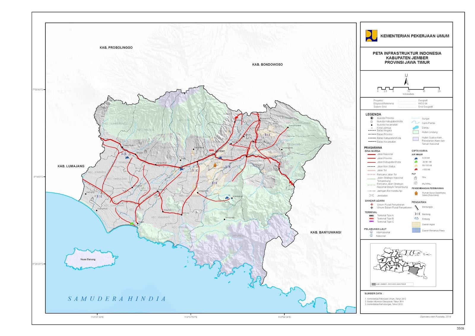 Peta Kota: Peta Kabupaten Jember