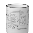 Moog ladder filter schematic on a coffee mug
