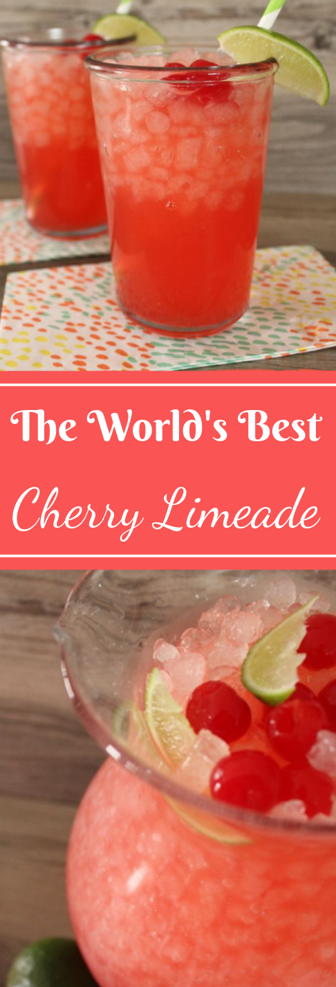 THE WORLD'S BEST CHERRY LIMEADE  #drink #party #cocktail #limeade #smoothie