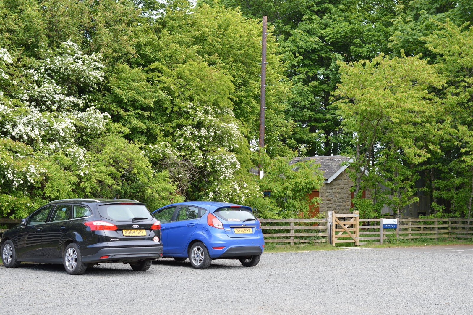 A Family BBQ at Ingram Valley, Northumberland National Park  - car park