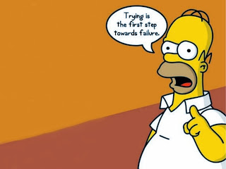 The Simpsons Homer Simpson trying first step to failure meme