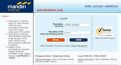 cara daftar internet banking mandiri 2