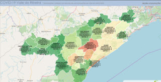 101 casos suspeitos de Coronavírus  no Vale do Ribeira e 745 casos confirmados em SP