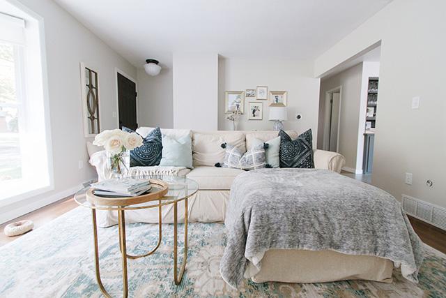Green & Blue Living Room Rug - Michaela Noelle Designs