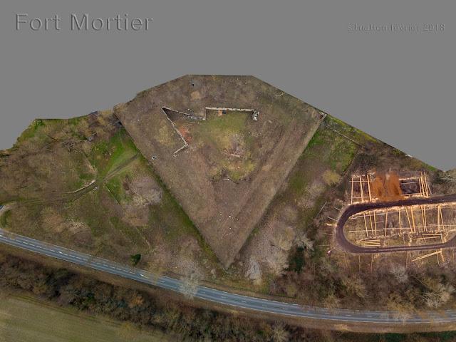 Fort mortier — Vue d'apex (Dr Balliet)