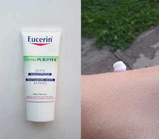 eucerin dermopurifyer active night cream review and swatch