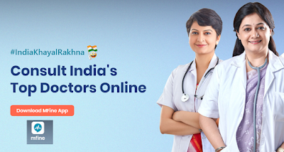 Best App for Online Doctor Consultation, Instant Chat and Video Call with Doctor online: MFine App