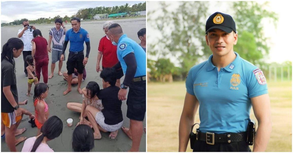 Policeman saves two drowning women in Pangasinan