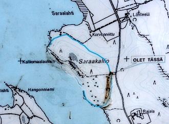 Walk Finland Laukaa Saraakallio Rock Paintings
