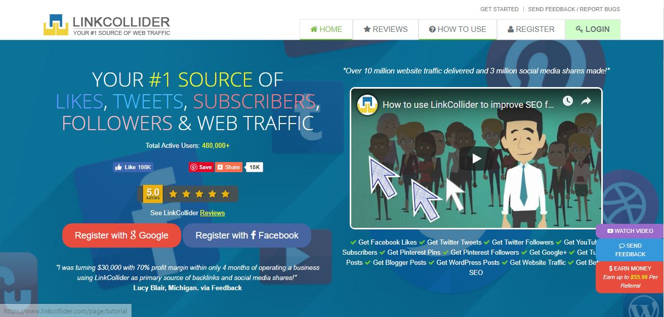 LinkCollider Review 2019: Rank No 1 On Google Free Traffic