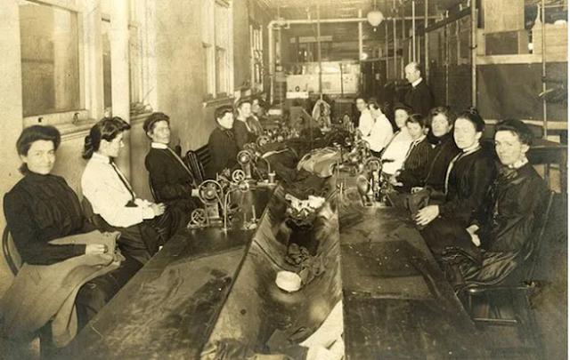 Oficina de costura antiga