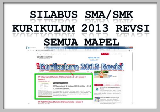 Silabus SMA/SMK Kurikulum 2013 Revisi Terbaru Semua MAPEL