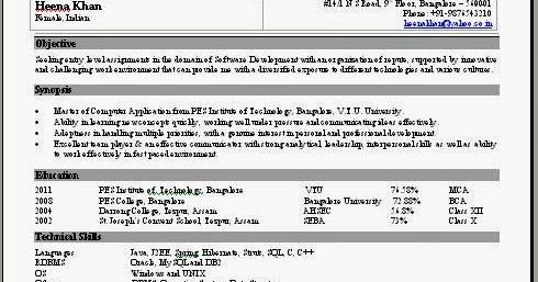 sap pi sample resume final project report template