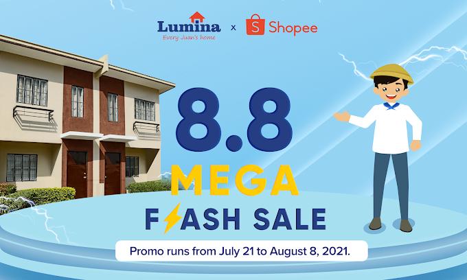 Lumina Homes 9th anniversary celebration Discount Vouchers at Shopee 8.8 Mega Flash Sale