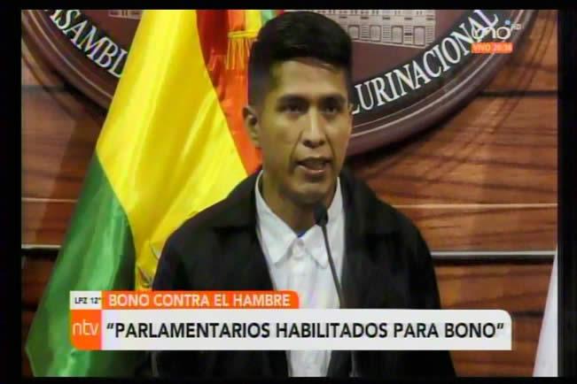 Denuncian que Andrónico y otros parlamentarios están habilitados para cobrar el Bono Contra el Hambre