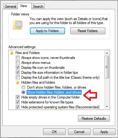 menampilkan hidden file