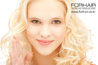 beautiful hairline, beautiful woman, pretty blond woman, hairline correction, fue transplant, forhair korea