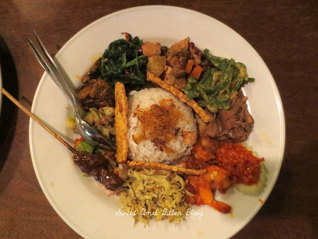 Best Nasi Campur at Made's Warung. Not to be missed.