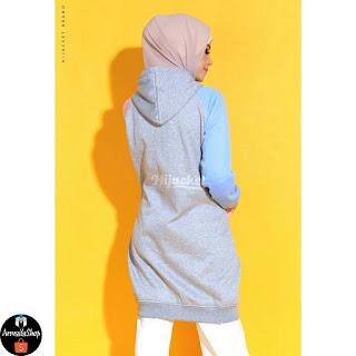 Jaket Cewe Muslimah Hijacket Groovy Marshmallow M fit L XL