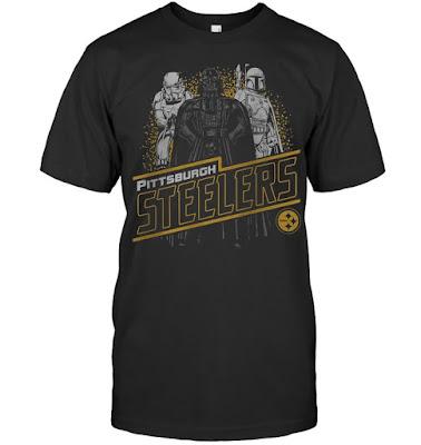 Pittsburgh Steelers Junk Food Empire Star Wars T-Shirts
