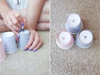 Cara Membuat Kerajinan Tangan Yang Mudah, Lampu Gelas Plastik 8