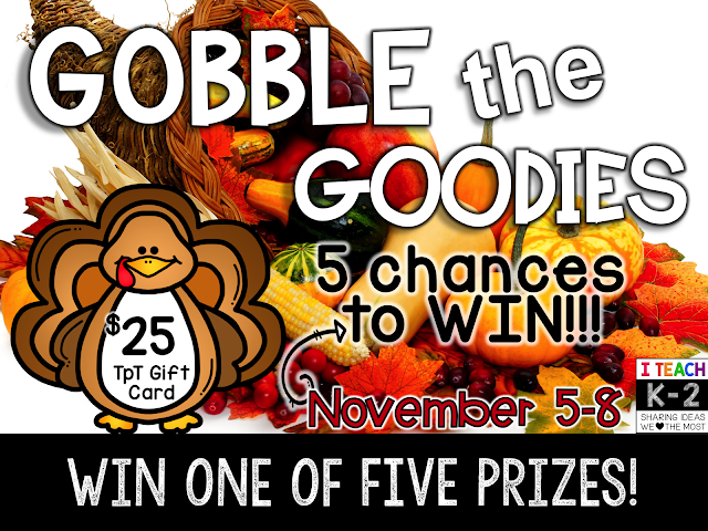 Fern Smith's Classroom Ideas November's Gobble the Goodies Freebies and $125 TpT Giveaways!