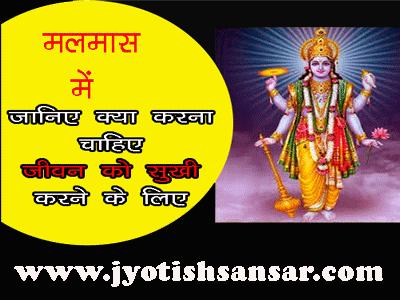 Malmaas/Adhik Maas Ka Mahattw jyotish anusar