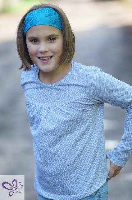 Baumwolljersey Clea von pepelinchen, Girly-Shirt von Konfetti Patterns