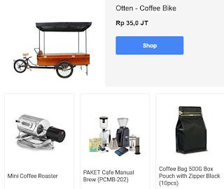 Otten coffee menjual peralatan barista