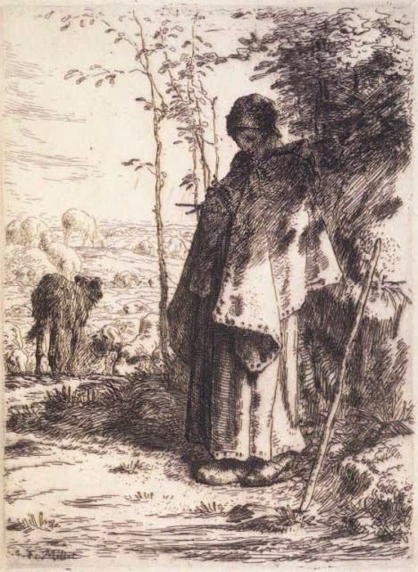 Жан Франсуа Милле - Взрослая пастушка. 1862