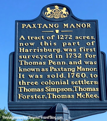 Paxtang Manor Historical Marker in Harrisburg, Pennsylvania