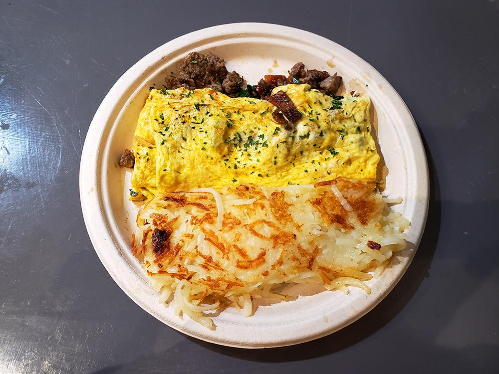 Three egg omelet from Eggxactly Breakfast & Deli in Memphis, TN