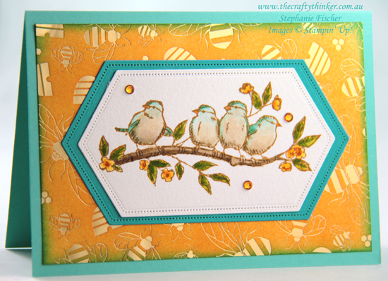 #thecraftythinker #stampinup #cardmaking #saleabration #freeasabird , Free As A Bird, Sale-A-Bration, Golden Honey SDSP, Stampin' Up Demonstrator, Stephanie Fischer, Sydney NSW