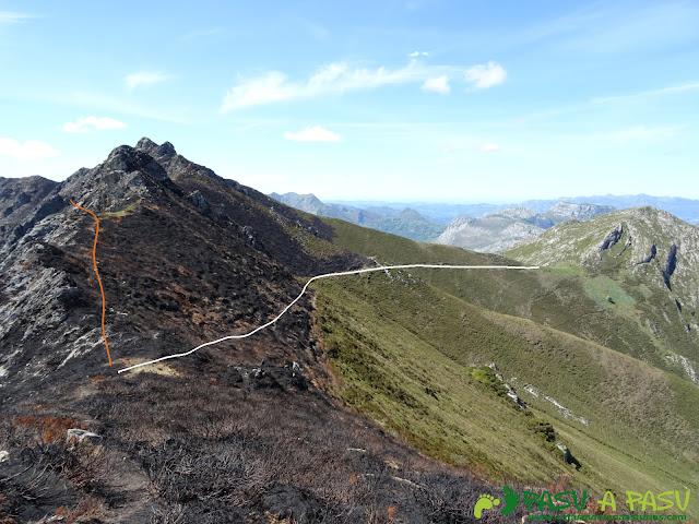 Ruta al Pierzu desde Priesca: Desvío alternativo a la Huérfana