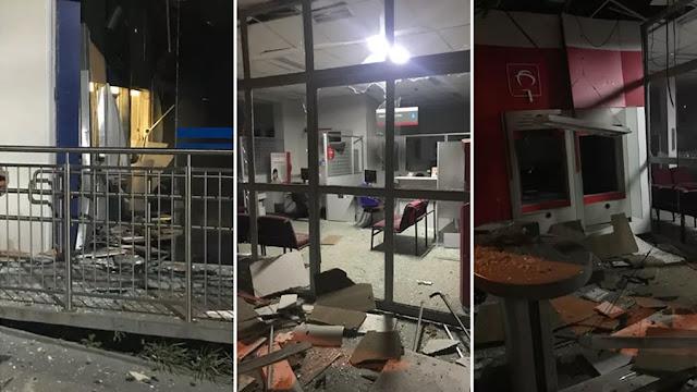 Assaltantes armados com fuzis invadem cinco agências bancárias em Caconde(SP)